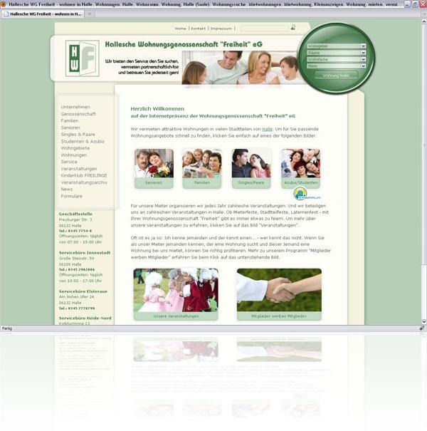 Webseite HWF