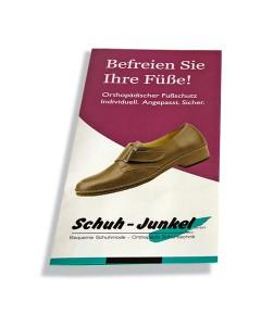 Produktflyer der Firma Schuh Junkel